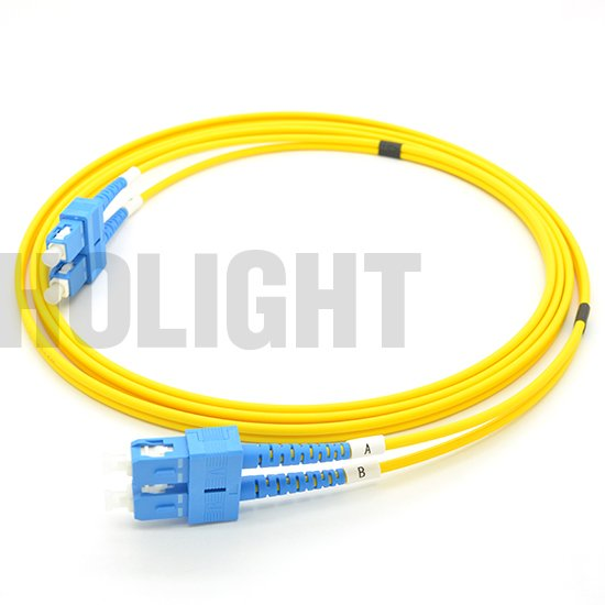 SC UPC to SC UPC Single mode Duplex 3.0mm patch cable_p3