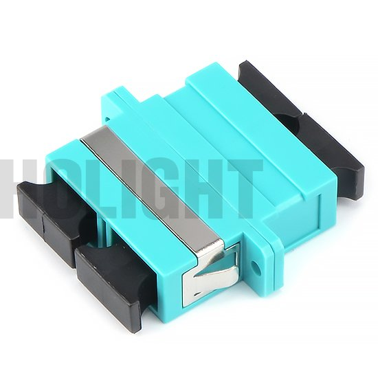 Adapter SC OM3 DX with flange plastic_p1