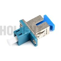SC Metal to LC Plastic Simplex Hybrid Fiber Adapter female to female_p1